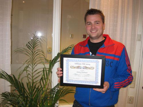 Vinnare av affiliate-SM 2009 Jonny Elofsson