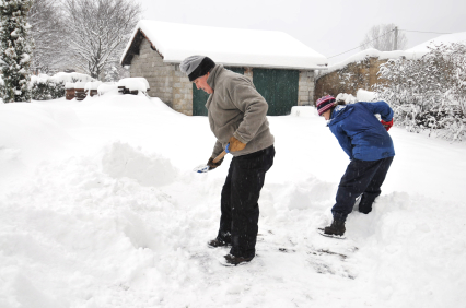 Snöskottning utan snöslunga