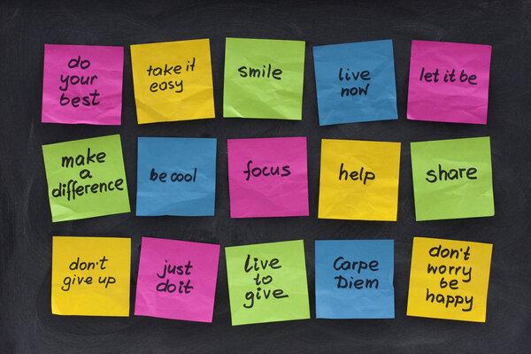 Enkla och motiverande visdomsord.