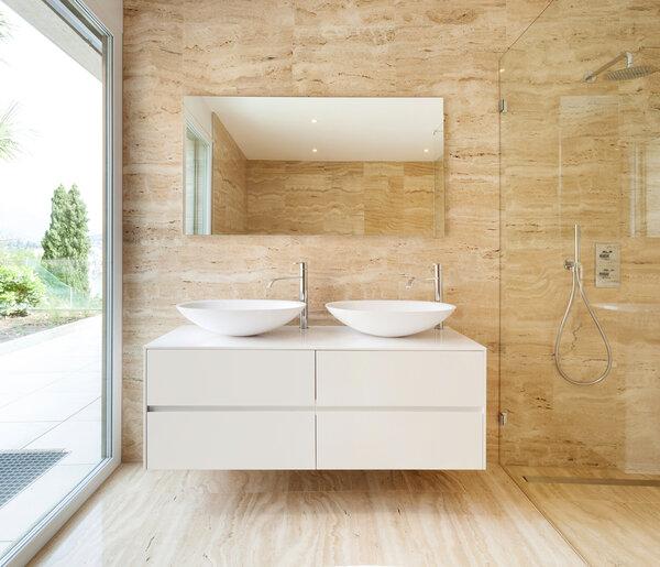 modernt renoverat badrum
