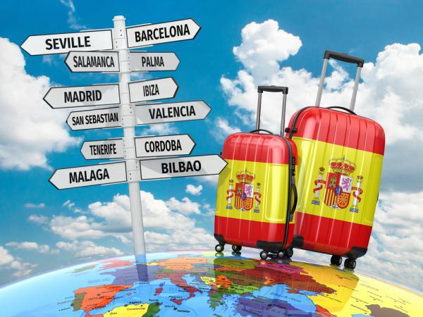 Att resa till Spanien